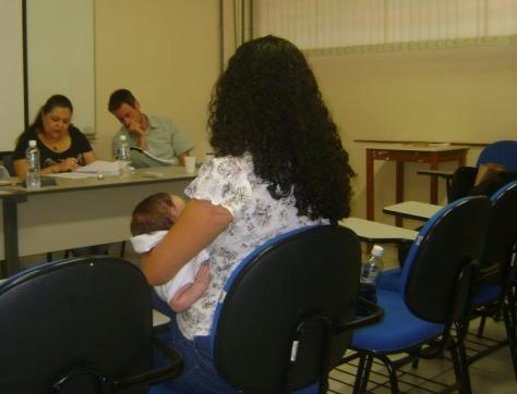 Desfensa doutorado com bebê