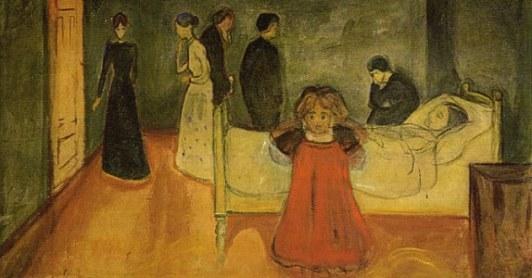 """""""A mãe morta e a criança"""" (1899), Edvard Munch"""